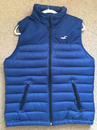 Hollistor Men's Puffer Vest Blue