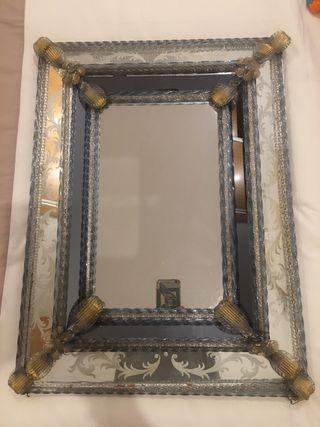 Espejo veneciano antiguo 60x40cm