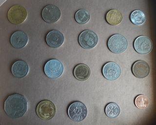 Colección monedas de Asia, África y Oceanía