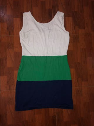 Vestido licra tricolor