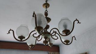lámpara bronce vintage