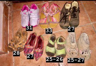 Lote de zapatos tallas varias
