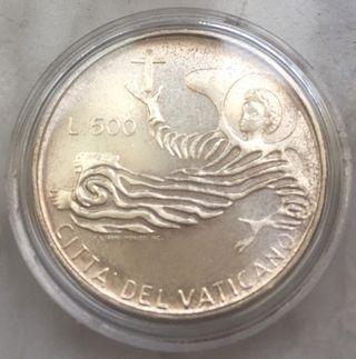EL VATICANO Moneda de PLATA /PABLO VI 500 liras
