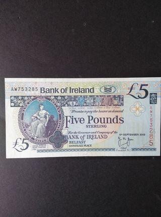 Belfast 5 libras.