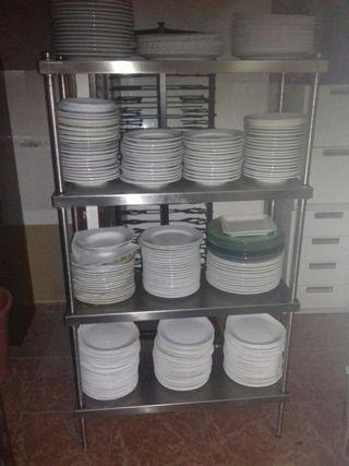 estanteria de acero inox.