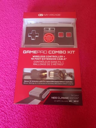 Gamepad My Arcade para WiiU, Nes Mini, Wii