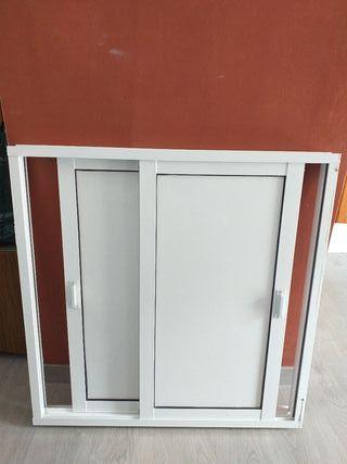 ventana aluminio blanco lacado 88x87cm