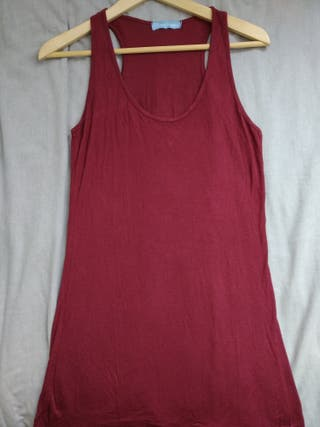 Camiseta larga de tirantes