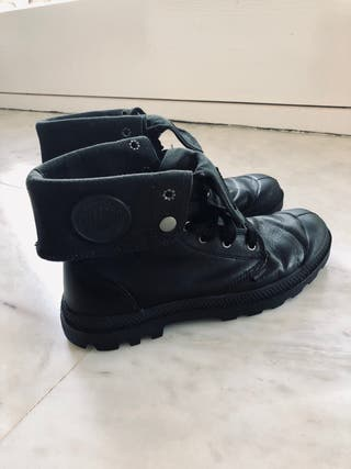 Botas cuero negras Palladium