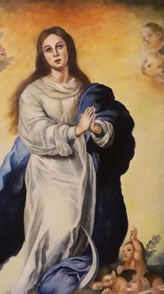 pintura religiosa oleo