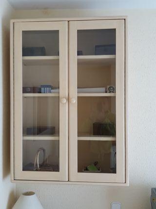 mueble colgar vitrina salon