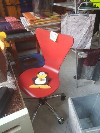 silla madera oficina