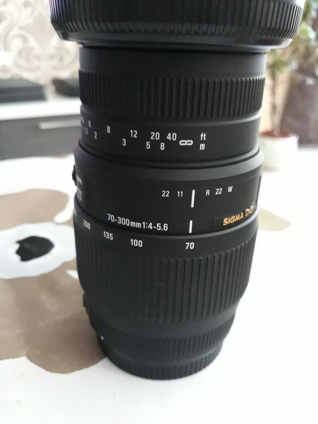 objetivo sigma 70-300 para canon