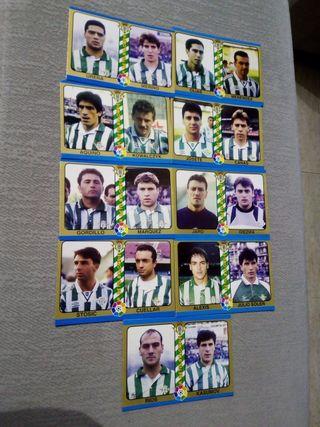 cartas liga 1995 fútbol total real betis