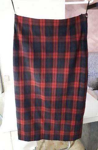 9914ddb1b Sexy,elegante falda lápiz,tubo tartan cuadros,roja de segunda mano ...
