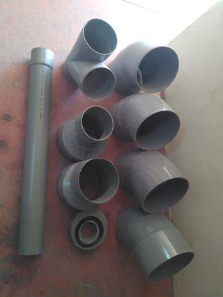 lote piezas tubería pvc