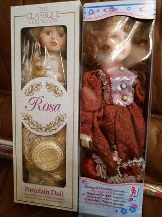 2 Muñecas de porcelana