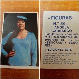 2 Cromos 'Figuras' Ediciones Este (año 1.975)