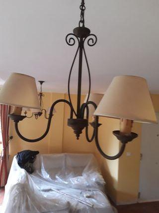conjunto de 2 lámparas de techo.