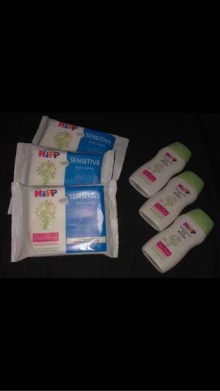 Hipp wipes and wash
