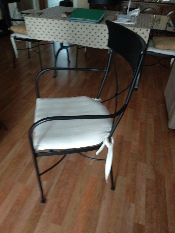 Juego sillas y mesa comedor negro estilo imperio de segunda ...