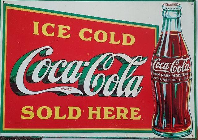 Cartel Publicitario De Coca Cola Vintage De Segunda Mano Por 10 En Madrid En Wallapop