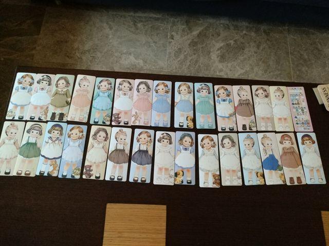 lote papelería niñas vintage