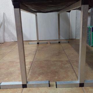 Mesa/caballetes soporte aluminio