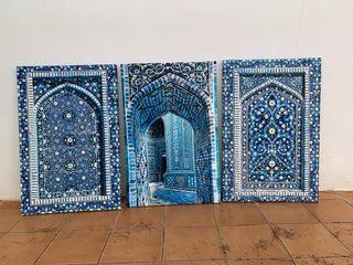 Tres cuadros estilo árabe