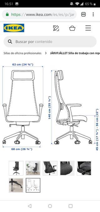 Vendo silla de escritorio u oficina de Ikea.