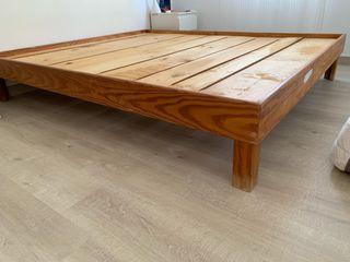 Somier de madera maciza