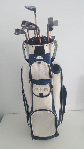 9 Palos de Golf Ping. Con Bolsa.