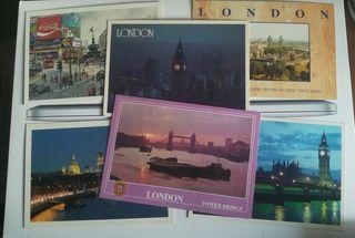 6 postales Londres