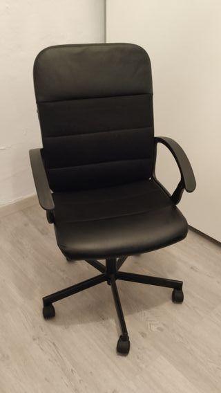 Silla oficina Renberget negra Ikea