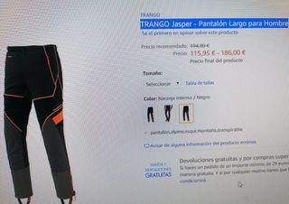 Hombre Trangoworld Sagano Pantal/ón Largo