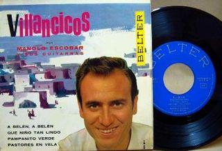 EP DISCO VINILO DE MANOLO ESCOBAR- VILLANCICOS