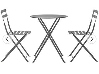 Set of bistro chairs and table