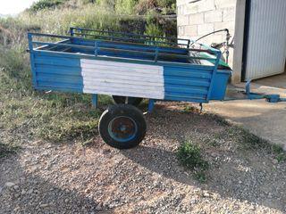 Remolque motocultor agrícola basculante