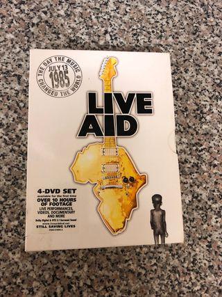 Live aid 4 dvd set rare