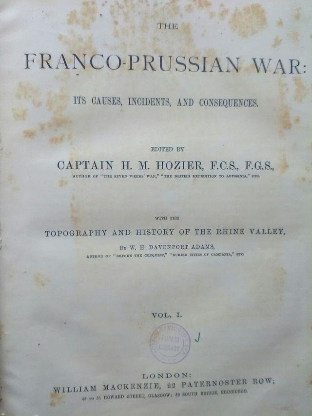 MILITARIA Libro GUERRA FRANCO-PRUSIANA