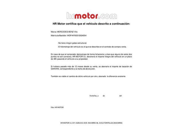 MERCEDES-BENZ Vito Furgón 109CDI Larga