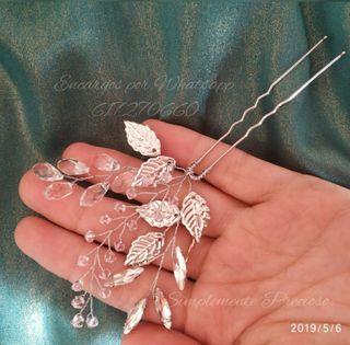 Muy fino Tocado de cristal Swarovski hecho a mano