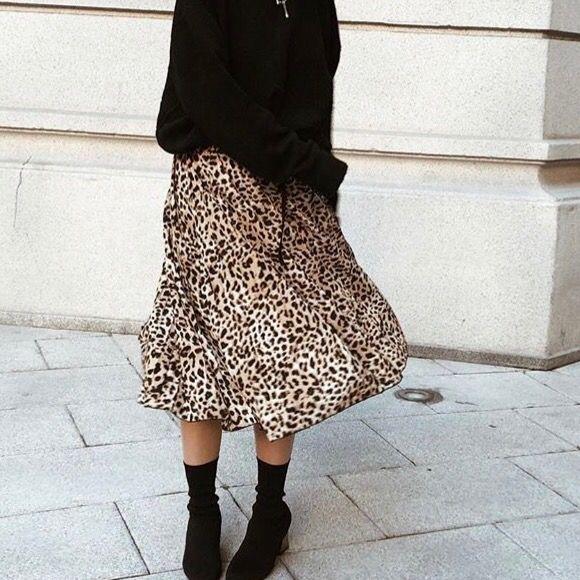 zapatos deportivos dab3b 85872 Falda leopardo midi de segunda mano por 10 € en Madrid en ...