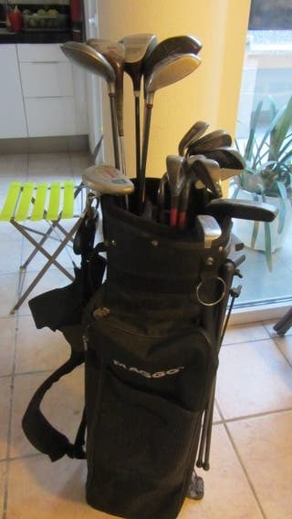 Palos de golf y su bolso ( 14 palos)