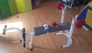 Banco de pesas BH Fitness 500