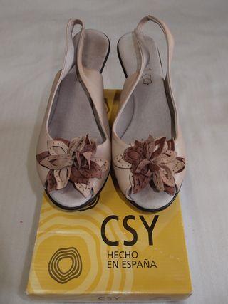 Sandalias piel CSY Nº40