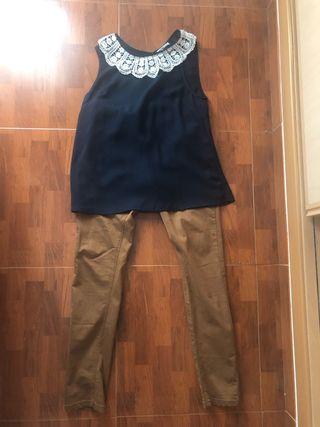 Conjunto blusa y pantalon
