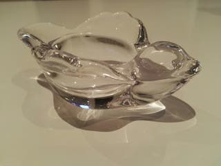 cenicero cristal macizo pájaro