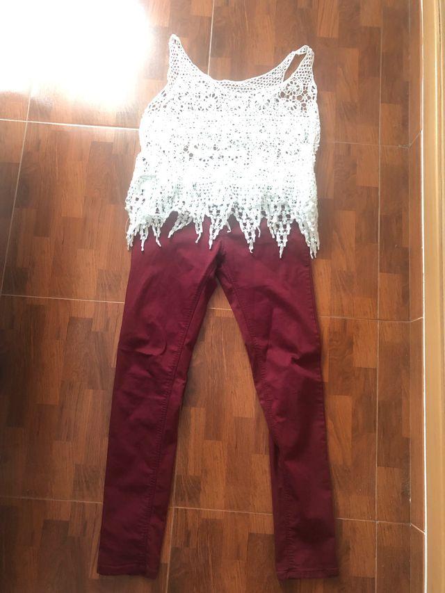 Conjunto pantalon y blusa