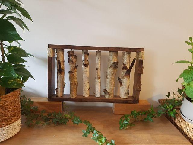 Porte manteaux mural bois rustique